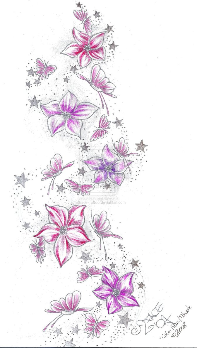 Flower tattoos design izmirmasajfo