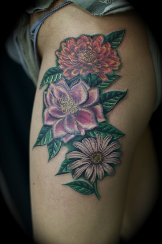 The gallery for birth flowers for november tattoos for Birth flower october tattoo