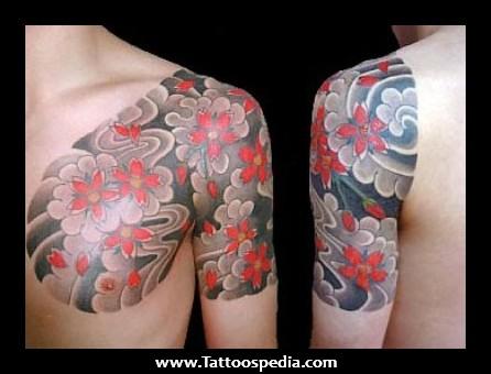 Flower Tattoo For Men On Shoulder