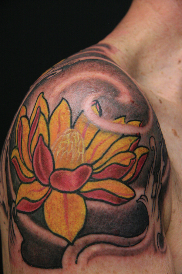 Flower tattoo images designs for Lotus flower tattoo on shoulder