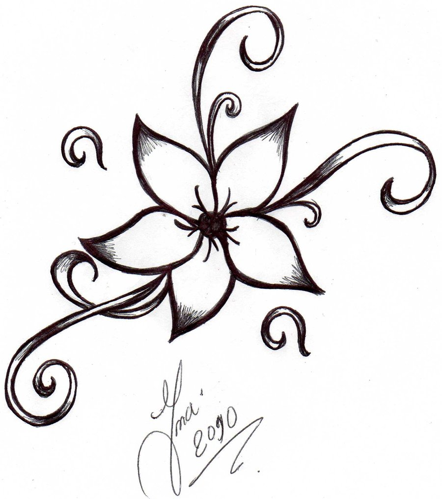 Flower Tattoo With Vines: New Vine Flower Tattoo Design