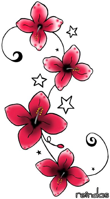 Red flowers tattoos design altavistaventures Images