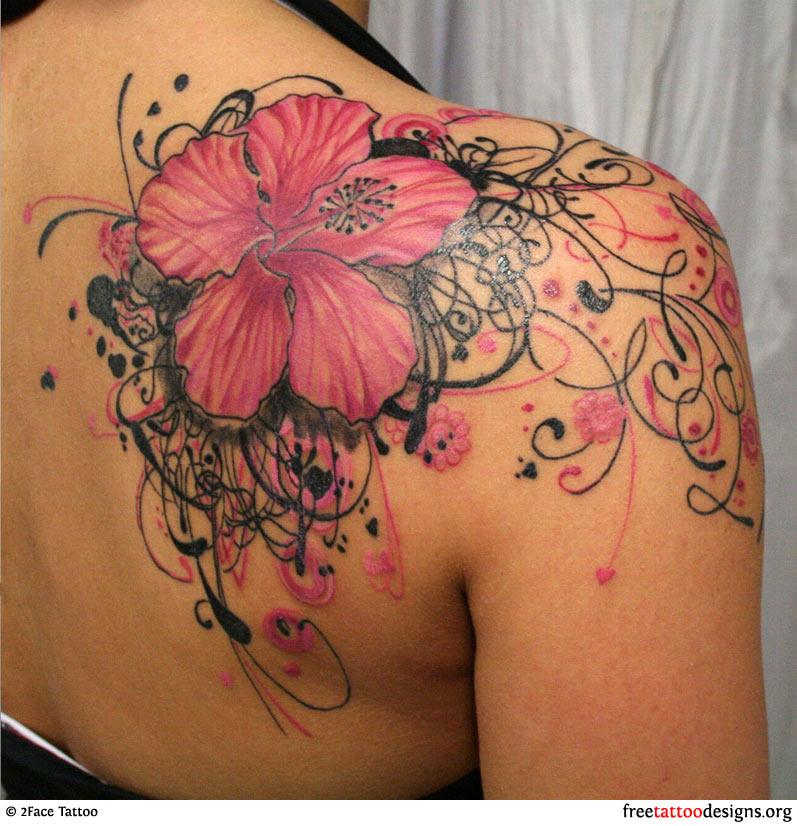 flower tattoo images designs. Black Bedroom Furniture Sets. Home Design Ideas