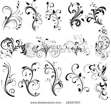 Flower tattoo images designs for Swirl tattoo designs