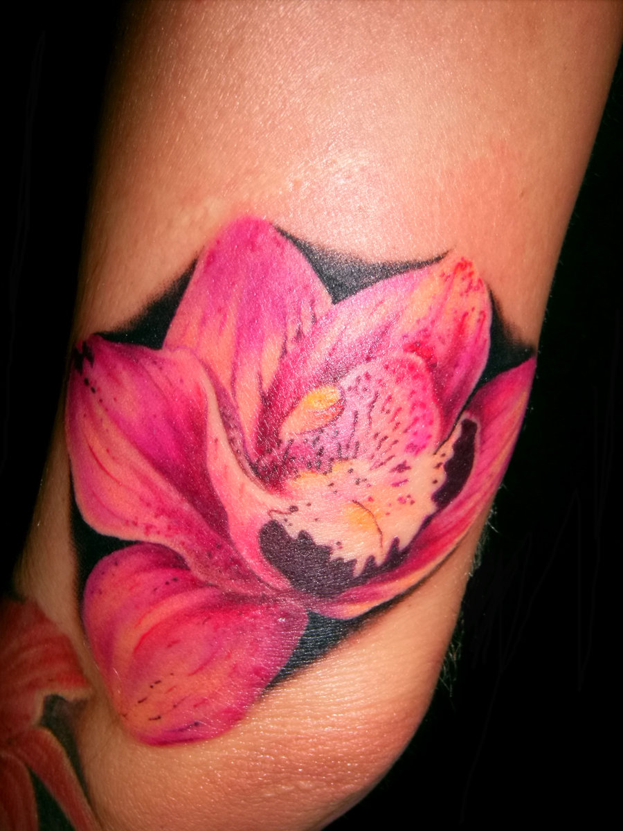 Wild Flower Tattoo On Arm