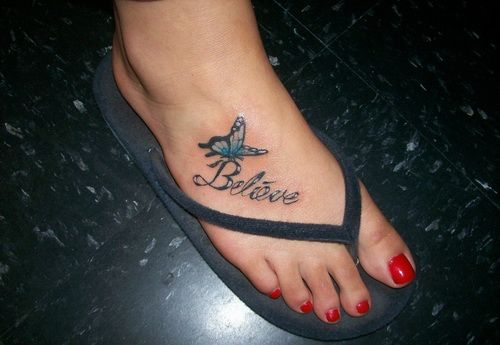 tattoo quotes for girls on foot - photo #32