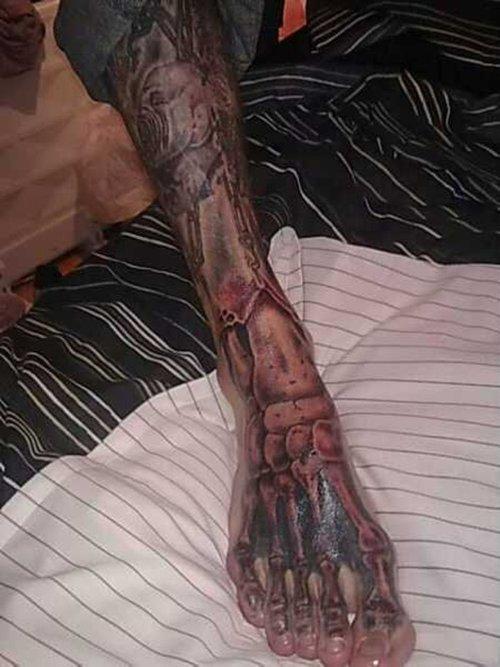 Foot Skeleton Tattoo