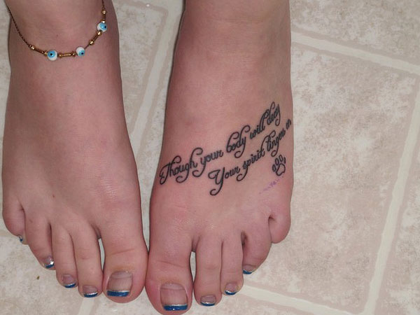 tattoo quotes for girls on foot - photo #24