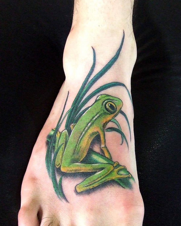 Foot tattoo images designs for Celtic frog tattoo designs