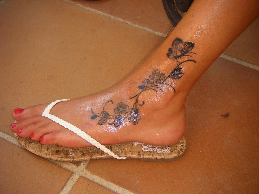 foot tattoo images designs. Black Bedroom Furniture Sets. Home Design Ideas