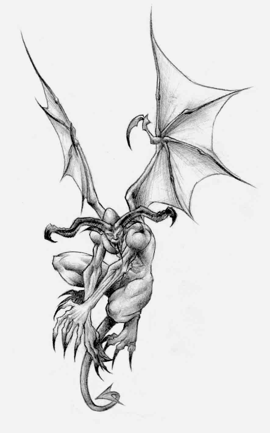 gargoyle tattoos design. Black Bedroom Furniture Sets. Home Design Ideas
