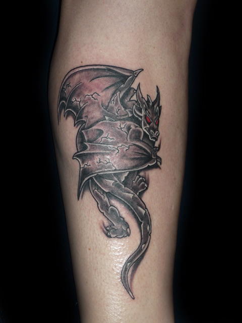 Gargoyle Tattoo On Right Back ShoulderGargoyles Tattoos Meaning