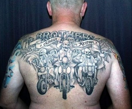 Upperback Gargoyle Tattoo For Men