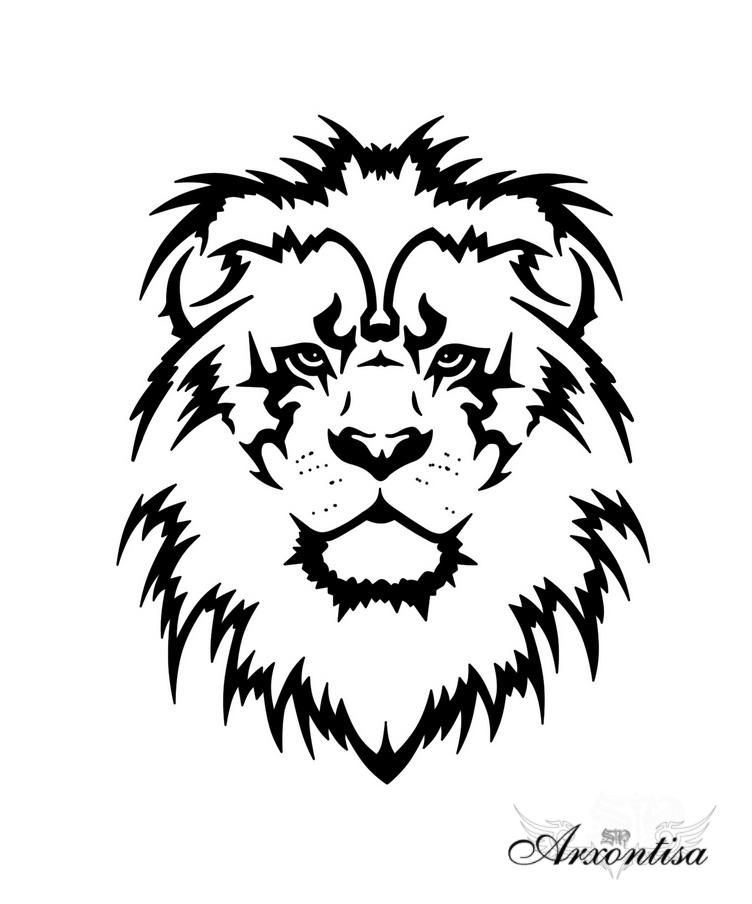 black tribal lion face tattoo design. Black Bedroom Furniture Sets. Home Design Ideas
