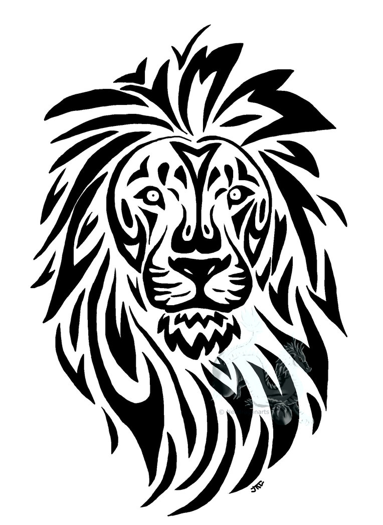girly tribal tattoos Quality Design Tattoo Lion Tribal Head