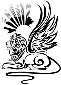 Winged lion tattoo - photo#24