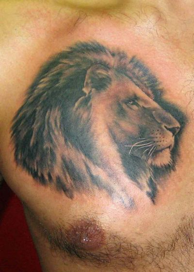 Lion tattoo images designs for Lion chest tattoos