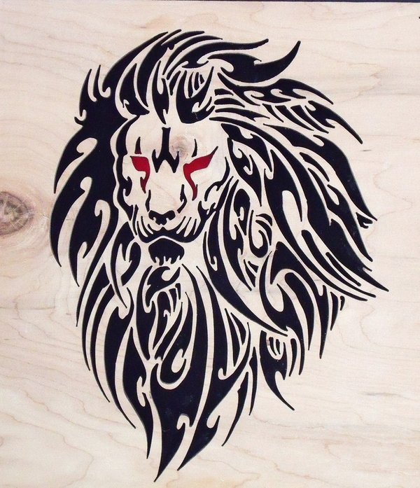 tribal lion head tattoos. Black Bedroom Furniture Sets. Home Design Ideas