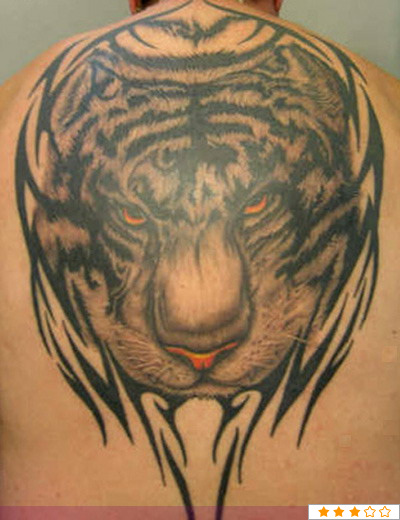 Lion head tattoos on the back - photo#23