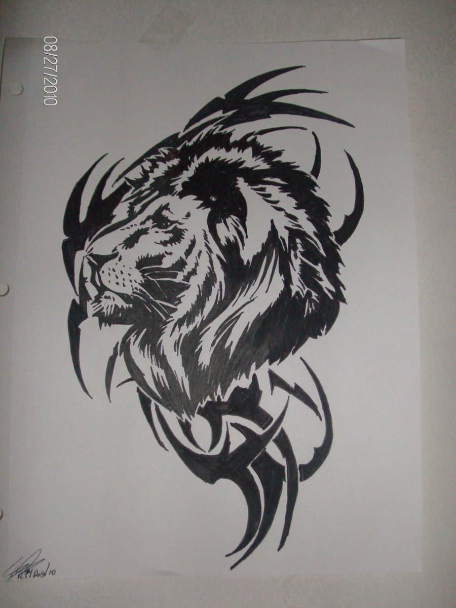 Rasta lion face sketch - photo#27