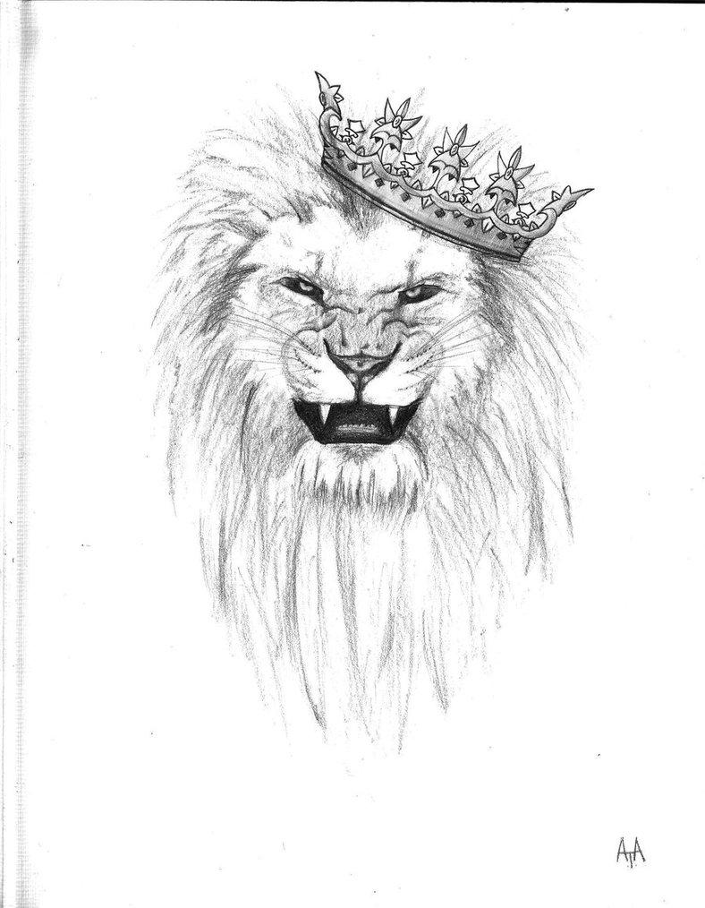 Crown Lion Head Tattoo...