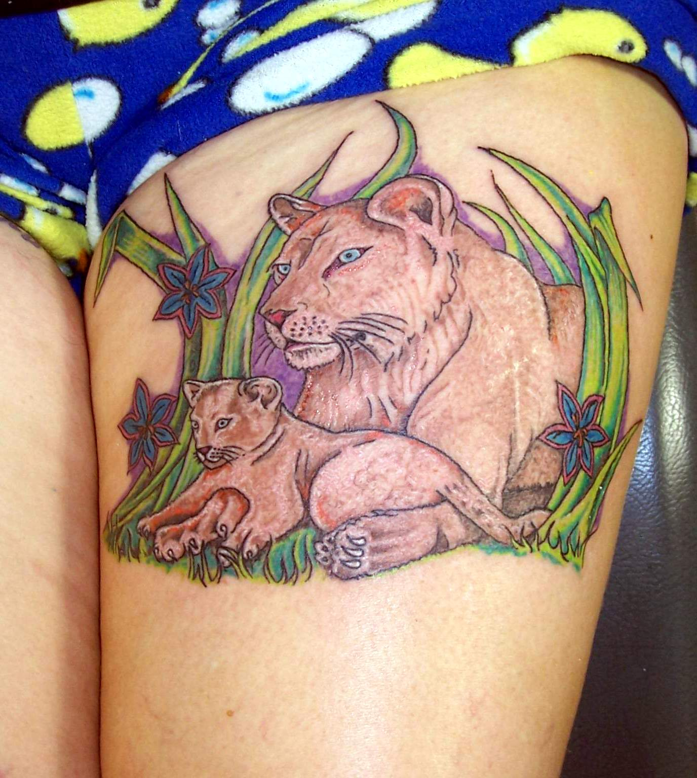 Lion tattoos page 6 for Lion and cub tattoo