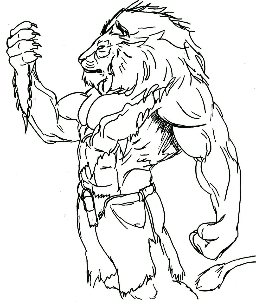 Lion Man Drawing Images amp Pictures Becuo