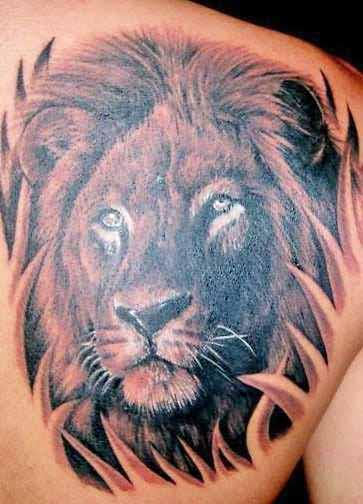 Lion tattoo images designs for Lion head tattoo