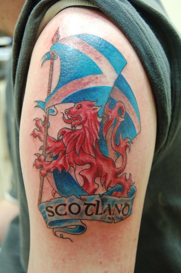 Scotland Flag Tattoo Designs