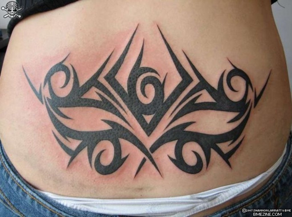 Women tattoo images designs for Black tribal tattoo ink