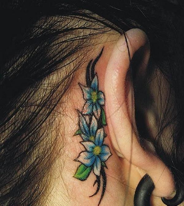 Tattoo Designs Behind Ear: Women Tattoo Images & Designs