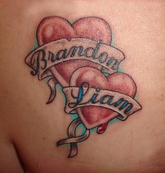 brandon liam banner and heart tattoos. Black Bedroom Furniture Sets. Home Design Ideas
