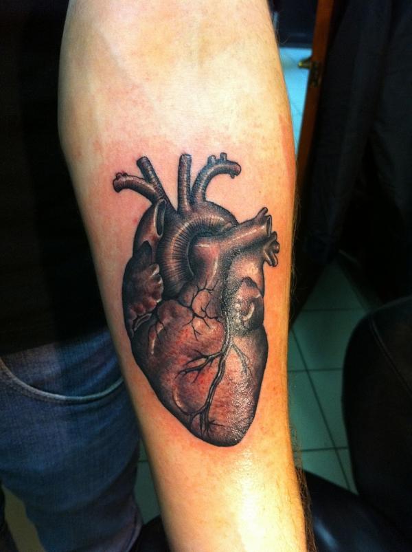 Real Heart Tattoo