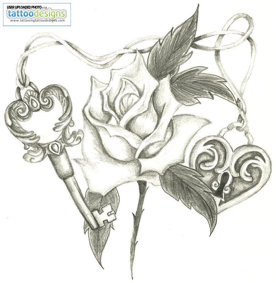 tattoo drawing software tattoo designs heart and key. Black Bedroom Furniture Sets. Home Design Ideas