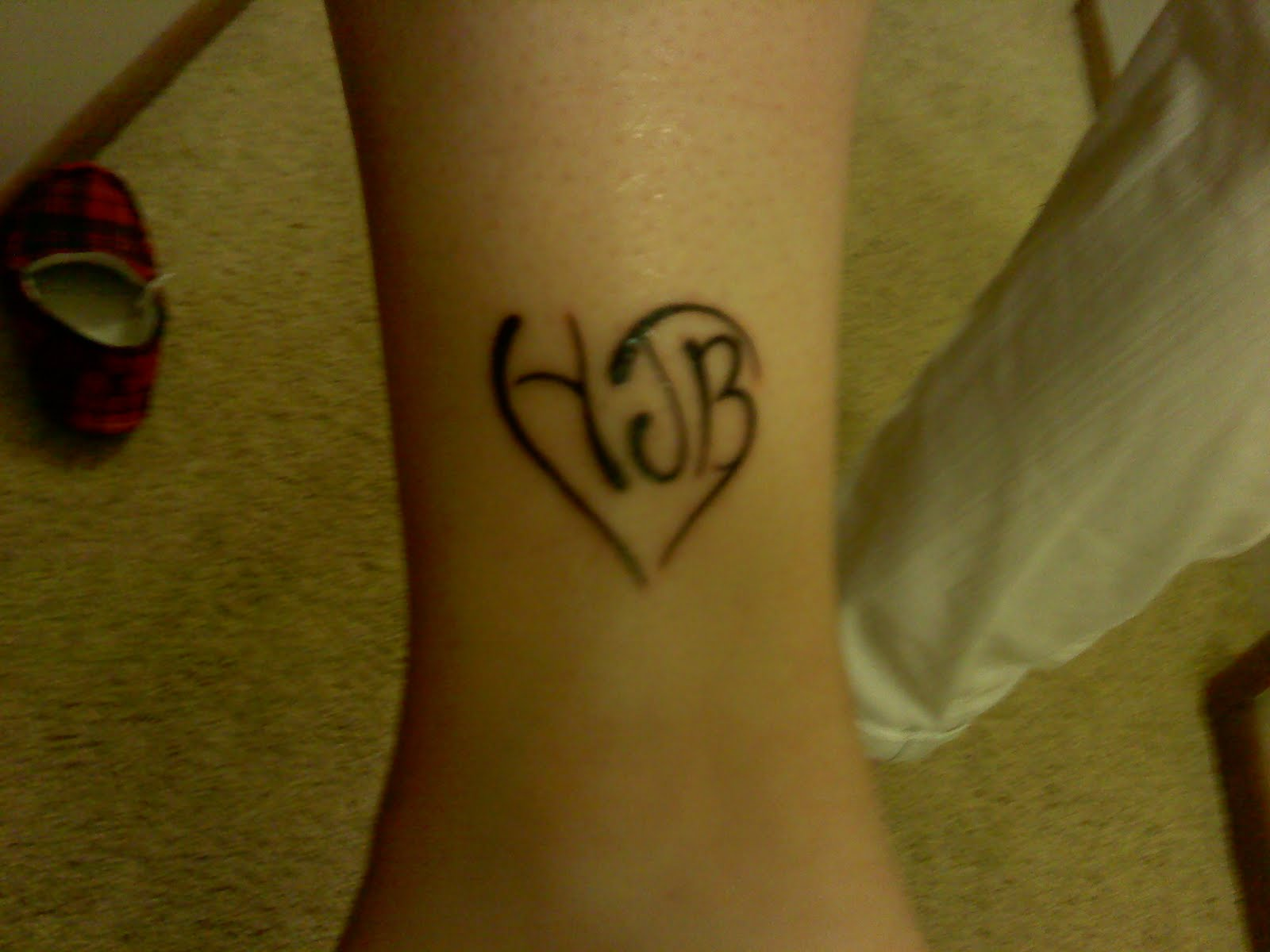 Heart Tattoo With Initials