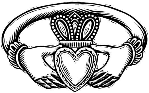 Claddagh Heart Tattoo Design