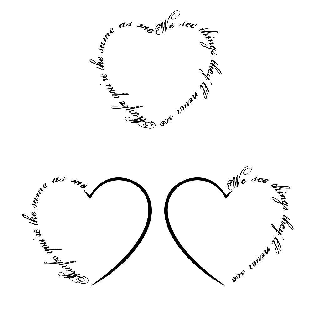 cute heart tattoos designs. Black Bedroom Furniture Sets. Home Design Ideas