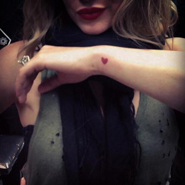Red Heart Tattoo On Wrist