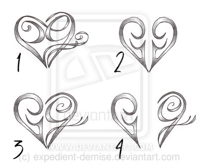 Heart Tattoo Designs With Letters Heart Tattoo Designs With