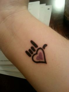 I Love You Sign Language Tattoo