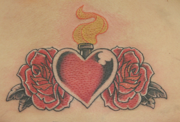 Heart tattoos page 24 for Tattoos with roses and hearts