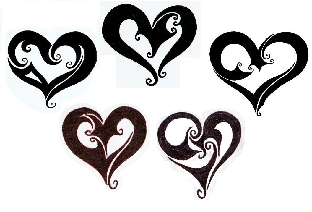 tribal heart tattoos designs. Black Bedroom Furniture Sets. Home Design Ideas