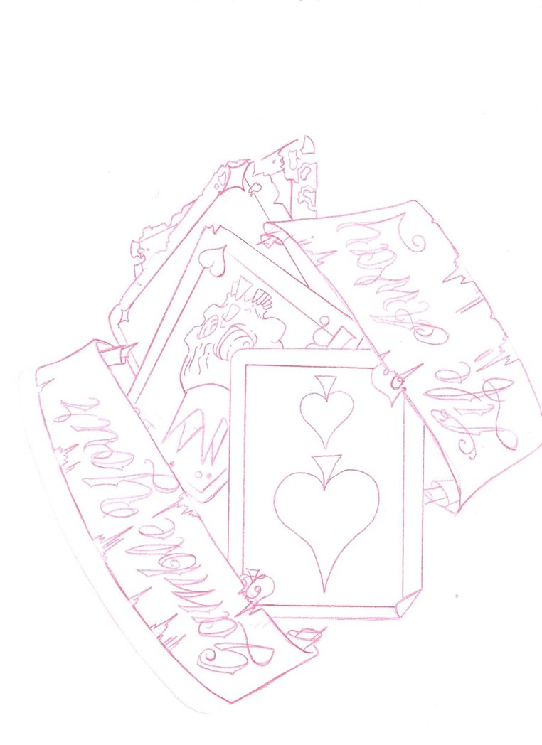 banner-and-cards-gambling-tattoo-design.