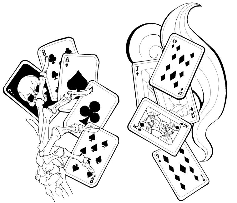 Gambling Tattoo Images &amp Designs