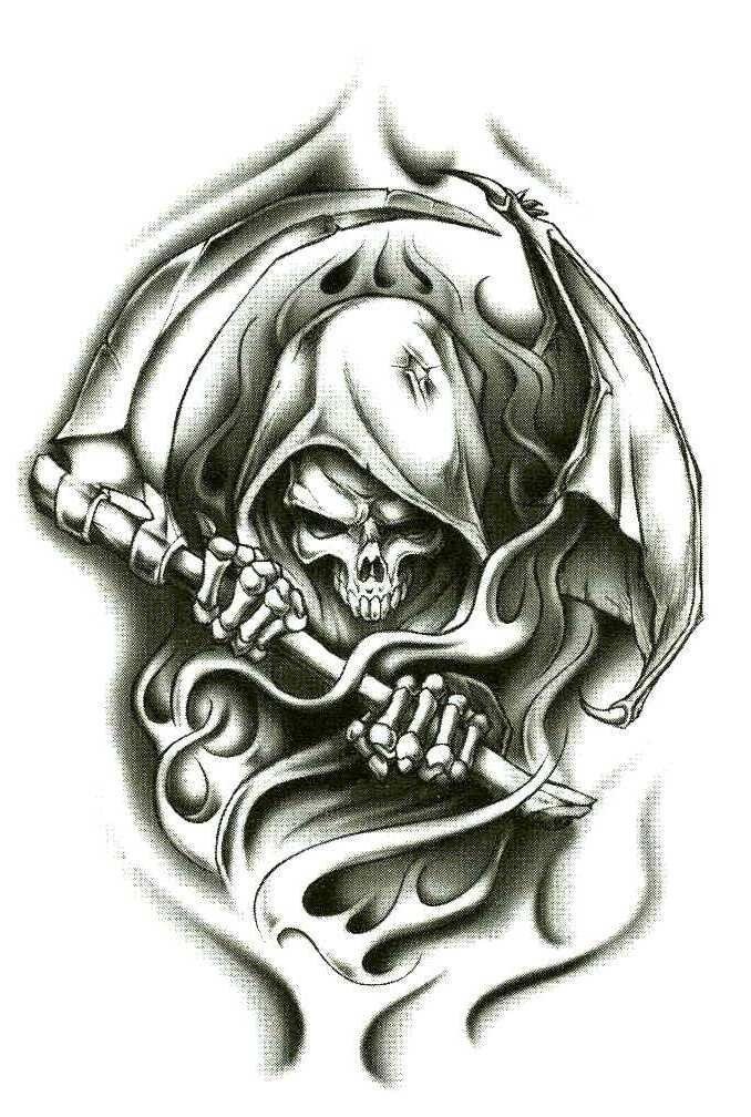 Grim Reaper Tattoo Drawings - Bing images