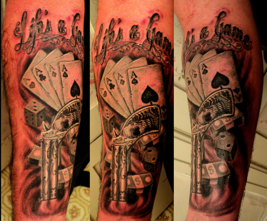 LifeS A Gamble Tattoo
