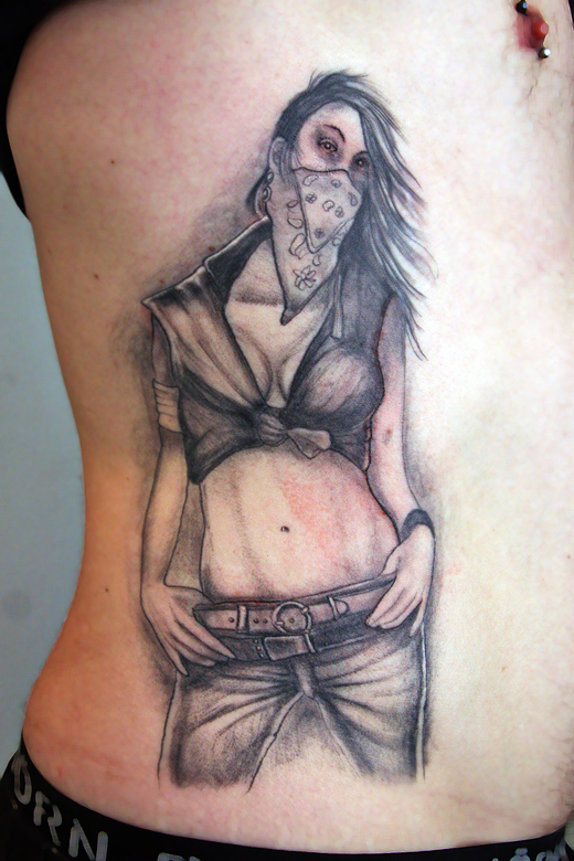 Gangsta tattoo images designs for Pinup girl tattoos