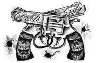 Gangsta Guns Tattoos Designs