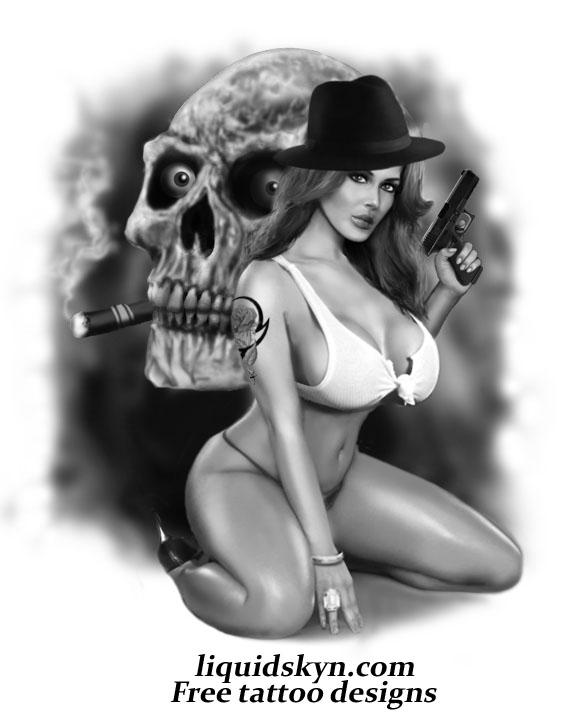 sexy gangsta chick naked