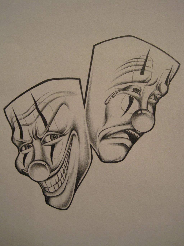 Drawings Of Gangster Girl Clowns